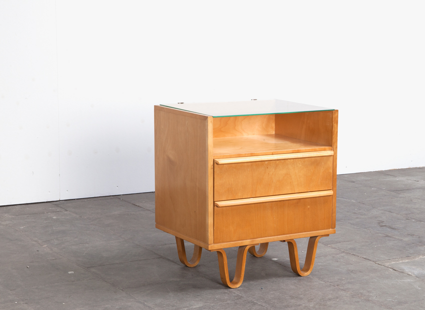 SOLD Cees Braakman Birch Nightstand Pastoe 50s