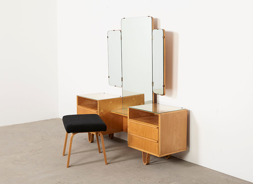SOLD Cees Braakman Dressing Table + Stool PB02 Pastoe 1950s