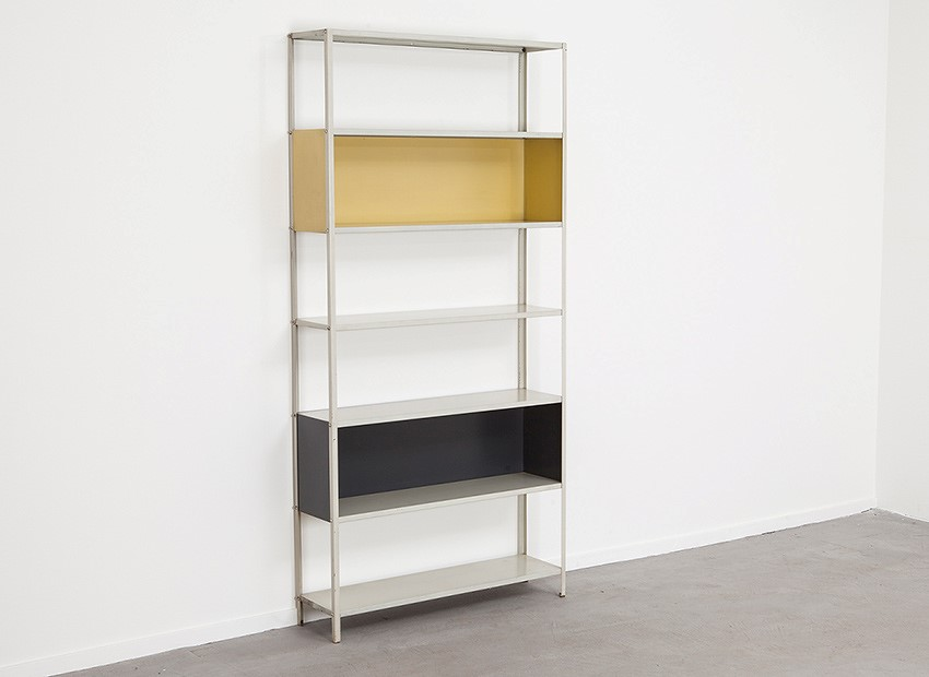 SOLD Friso Kramer Metal Bookcase Asmeta 1953
