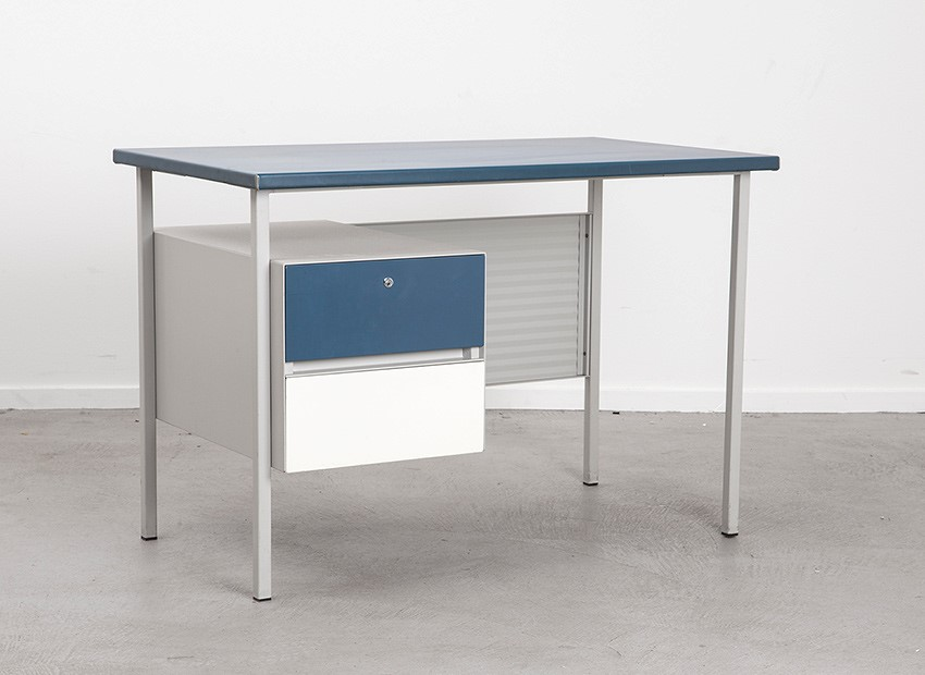 SOLD A.R. Cordemeyer Desk 3803 Blue Gispen 1959