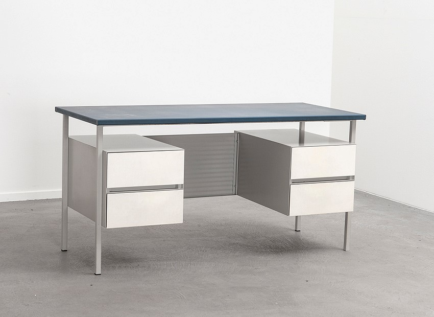 SOLD A.R Cordemeyer 3803 Desk Blue White Gispen 1959