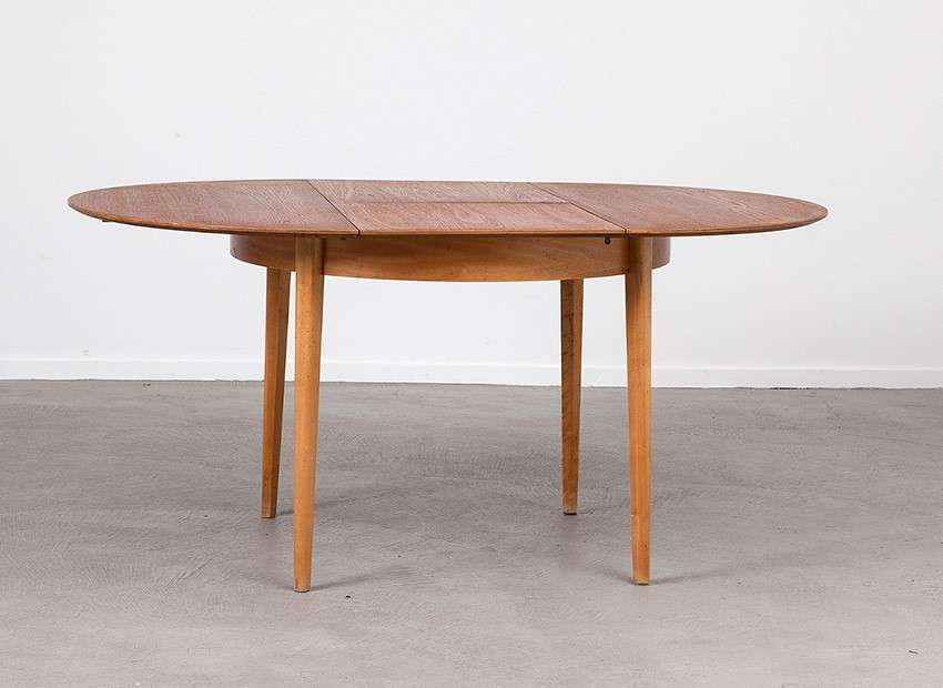 SOLD  Cees Braakman Teak Birch Extendable Table Pastoe 50s