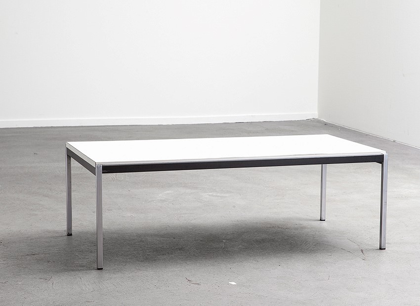 SOLD Coen De Vries Coffee Table White Gispen 60s