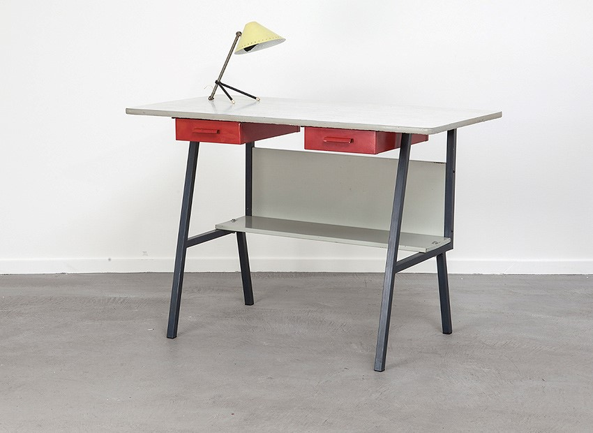 SOLD Coen de Vries (Attrib.) Desk Pilastro 50s