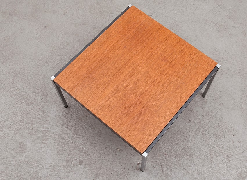 Coen De Vries Small Squared Teak Coffee Table Gispen 60s 6