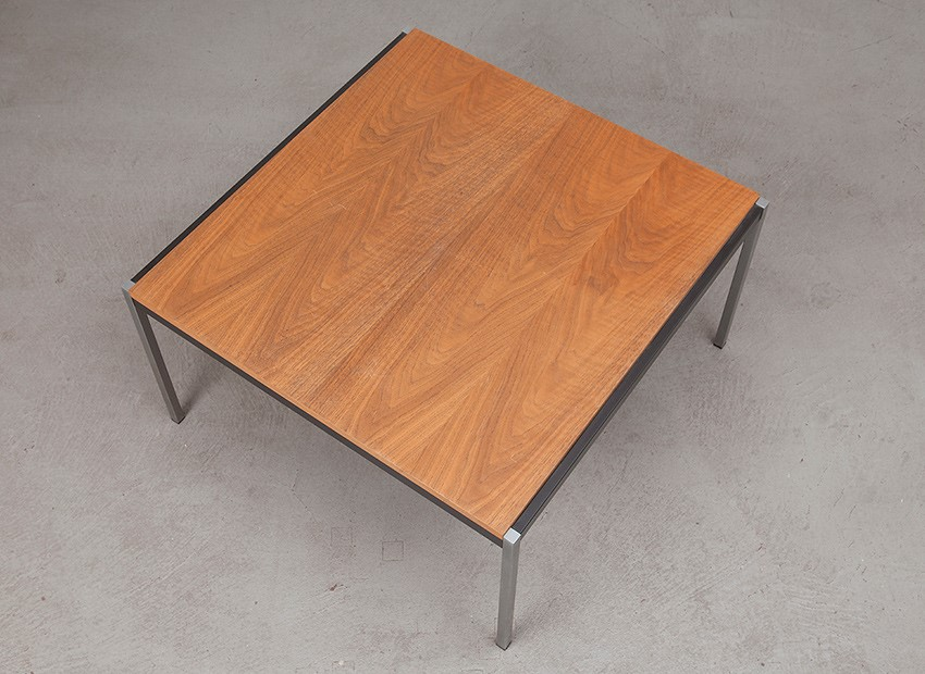 Coen De Vries Squared Teak Coffee Table Gispen 60s 7