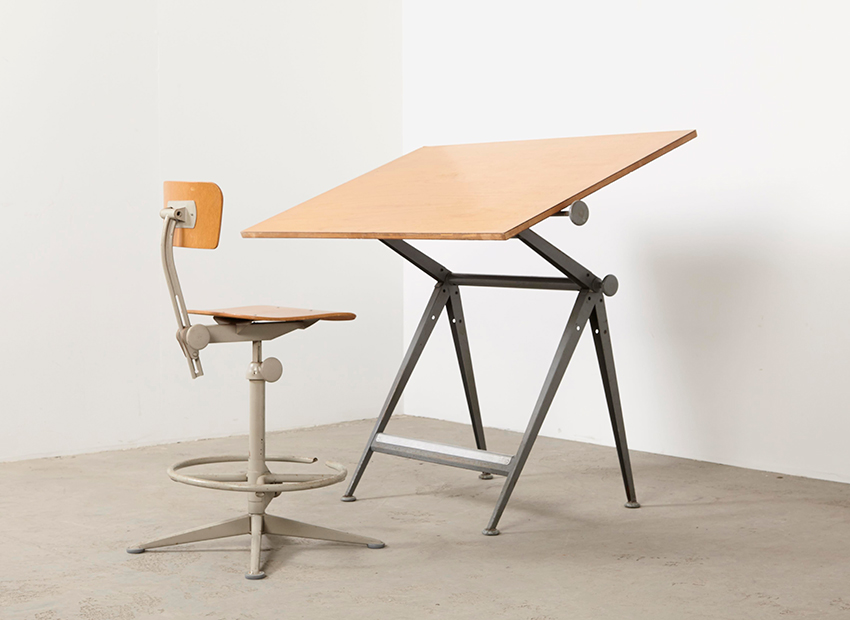 SOLD Friso Kramer & Wim Rietveld Drafting Table Ahrend De Cirkel 1963