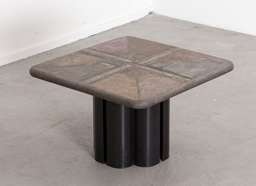 Marcus Kingma Brutalist Coffee Table Dutch 1988 1
