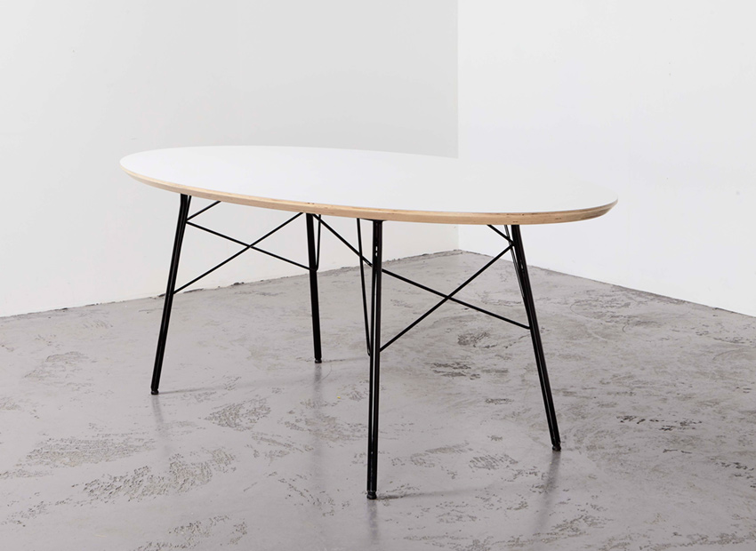 SOLD Modernist Ellipse Dining Table 1960s