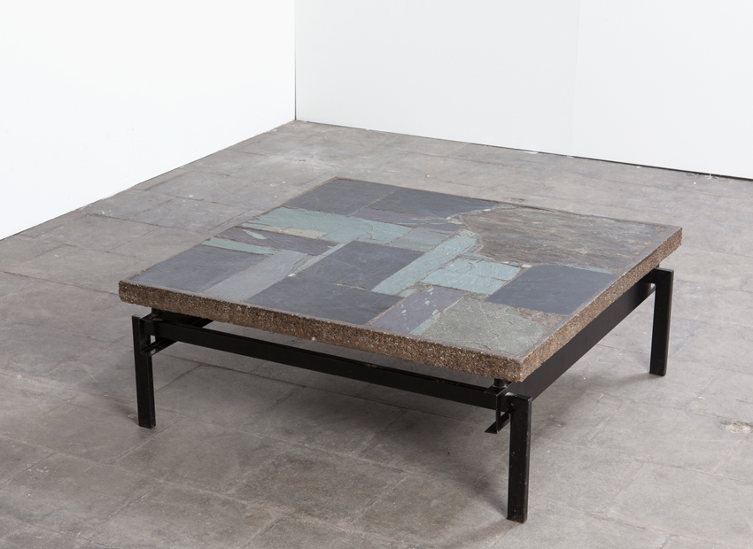 SOLD Paul Kingma Slate Stone Coffee Table Dutch 60s