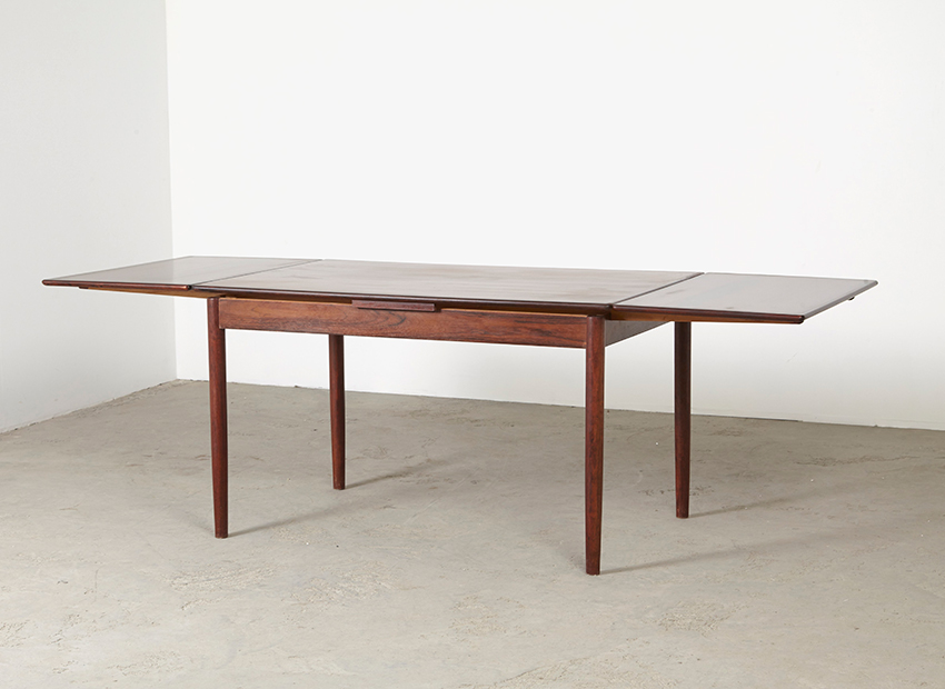 Rosewood Extendable Dining Table Danish 1960s
