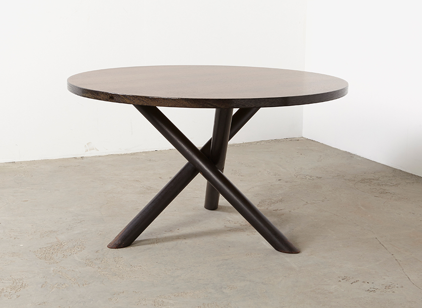 Round Modernist Dining Table 1960s