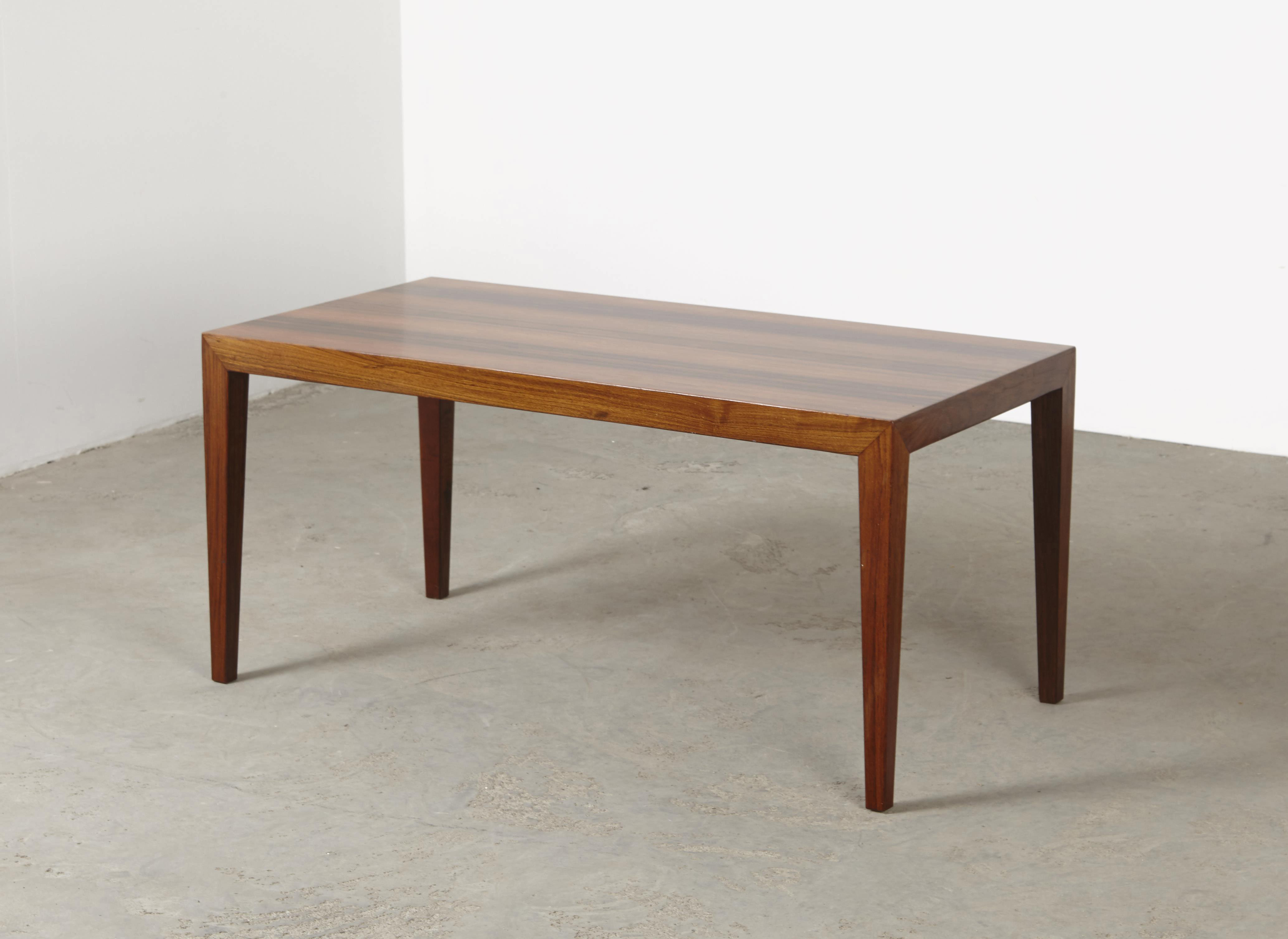 Severin Hansen Jr. Rosewood Coffee Table Haslev Denmark 1960s