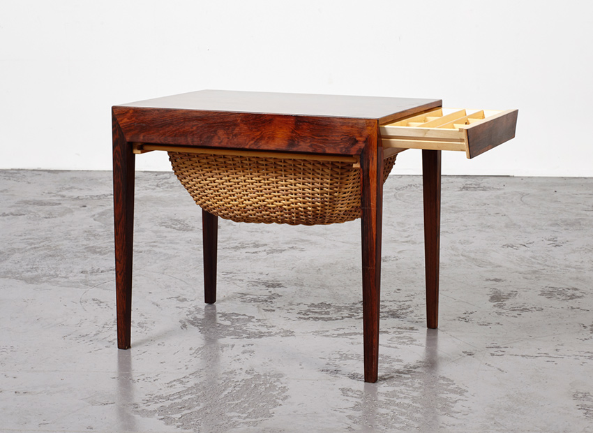 SOLD Severin Hansen Jr. Sewing SideTable Haslev Denmark 1960s