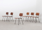 A.R. Cordemeyer 6 X Plywood Chairs Gispen 1959 2