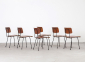 A.R. Cordemeyer 6 X Plywood Chairs Gispen 1959 3