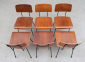 A.R. Cordemeyer 6 X Plywood Chairs Gispen 1959 8