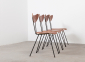 W.H.Gispen 4x Chairs Kembo 7