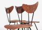 W.H.Gispen 4x Chairs Kembo 8